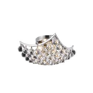 Corona Chrome 12-Inch Flush Mount with Elegant Cut Crystal