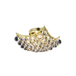Corona Gold 12-Inch Flush Mount with Elegant Cut Crystal