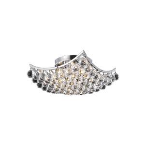 Corona Chrome 14-Inch Flush Mount with Elegant Cut Crystal