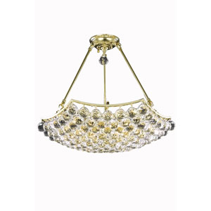 Corona Gold Ten-Light Chandelier with Clear Royal Cut Crystals