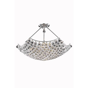Corona Chrome Twelve-Light Chandelier with Clear Royal Cut Crystals