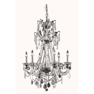 Imperia Dark Bronze Six-Light Chandelier with Swarovski Strass Crystal