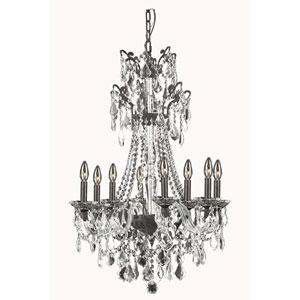 Imperia Dark Bronze Eight-Light Chandelier with Swarovski Strass Crystal