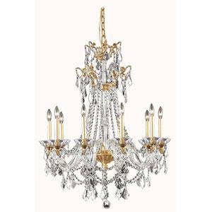 Imperia French Gold 10-Light Chandelier with Swarovski Strass Crystal