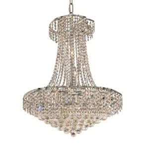 Belenus Chrome Fifteen-Light 26-Inch Chandelier with Royal Cut Clear Crystal