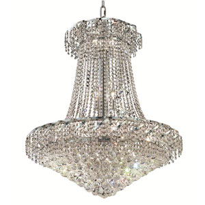 Belenus Chrome Eighteen-Light 30-Inch Chandelier with Royal Cut Clear Crystal