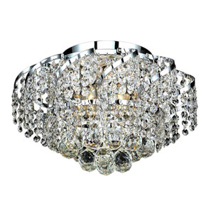 Belenus Chrome Six-Light 16-Inch Flush Mount with Royal Cut Clear Crystal