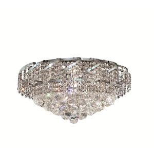 Belenus Chrome Eight-Light 20-Inch Flush Mount with Royal Cut Clear Crystal