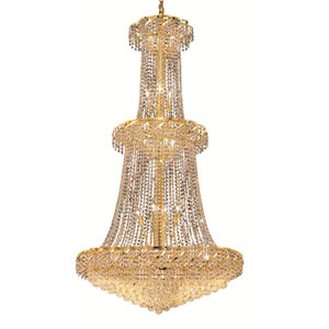 Belenus Gold 36-Inch 32-Light Chandelier with Swarovski Strass/Elements Crystal