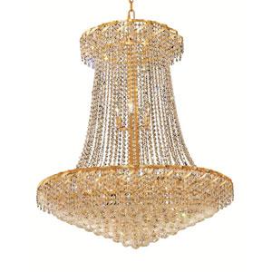 Belenus Gold 22-Light Chandelier with Swarovski Strass/Elements Crystal