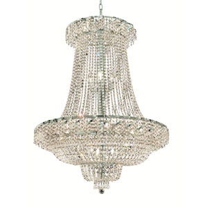 Belenus Chrome Twenty-Two Light 36-Inch Chandelier with Royal Cut Clear Crystal