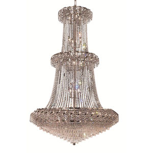Belenus Chrome Thirty-Two Light 42-Inch Chandelier with Royal Cut Clear Crystal