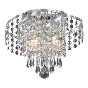 Belenus Chrome Two-Light 12-Inch Wall Sconce with Royal Cut Clear Crystal