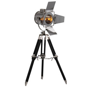 Ansel Tripod Chrome and Black 6.5-Inch Floor Lamp