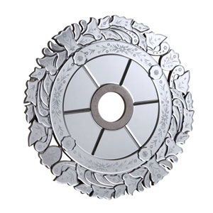 Mirrored Medallion Silver 32-Inch Medallion