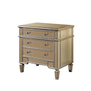 Florentine Silver Clear Mirror Three-Drawer Cabinet