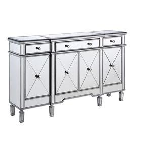 Silver Mirror 60-Inch Vanity Cabinet