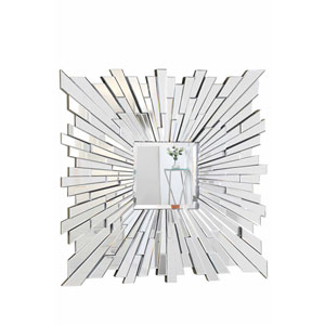 Modern Clear 47-Inch Square Mirror