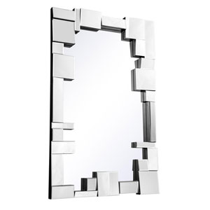 Modern Clear 50-Inch Rectangle Mirror