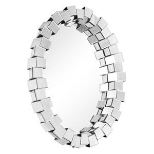 Modern Clear 42-Inch Oval Mirror