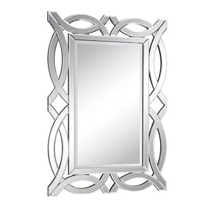 Modern Clear 28-Inch Rectangle Mirror