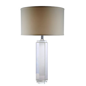 Regina Chrome One-Light Table Lamp