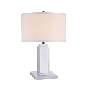 Regina Chrome 33-Inch High One-Light Table Lamp