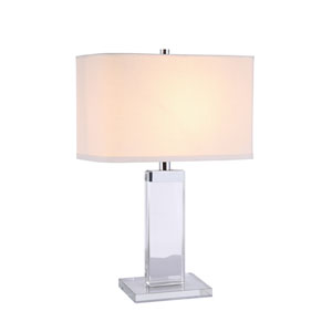 Regina Chrome 8-Inch Square One-Light Table Lamp