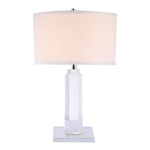 Regina Chrome 36-Inch High One-Light Table Lamp