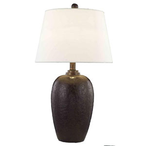 Belmont Crystal Walnut Brown One Light 28-in Table Lamp