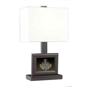 Belmont Crystal Opal White One Light 22-in Table Lamp