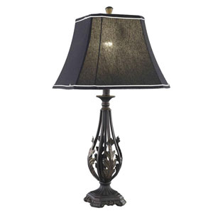 Belmont Crystal Antique Black One Light 28.5-in Table Lamp