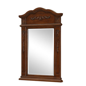 Brown Arched Mirror