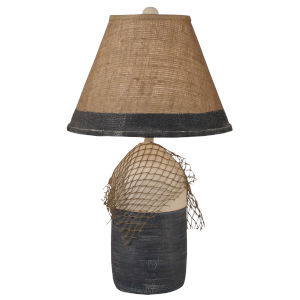 Coastal Lighting Cottage Navy Accent One-Light Table Lamp