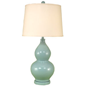 Casual Living High Gloss Atlantic Gray One-Light Table Lamp