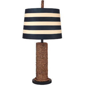 Coastal Living Solid Navy One-Light Table Lamp