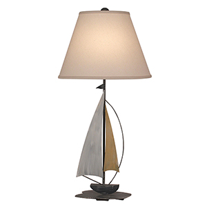 Nude One-Light Iron Sail Boat Table Lamp