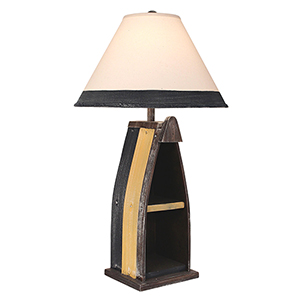 Weathered Walnut One-Light 30-Inch Sail Boat Floor Lamp