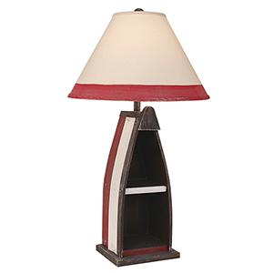 Coastal Living Weathered Walnut One-Light Table Lamp