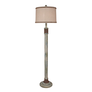 Coastal Living Shabby Summer One-Light Rope Accent Floor Lamp