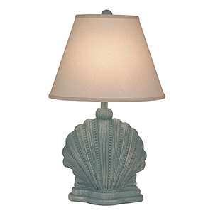 Coastal Living Weathered Atlantic Gray One-Light Mini Scallop Shell Table Lamp
