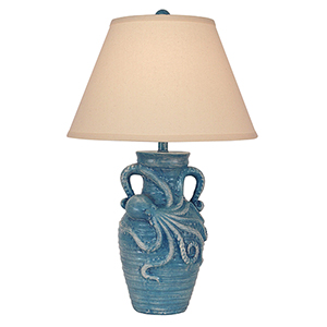 Coastal Living Weathered Deep Sea One-Light Octopus Table Lamp