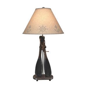 Coastal Lighting Weathered Walnut Navy Accent One-Light Table Lamp