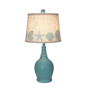 Coastal Lighting Weathered Aqua One-Light Table Lamp