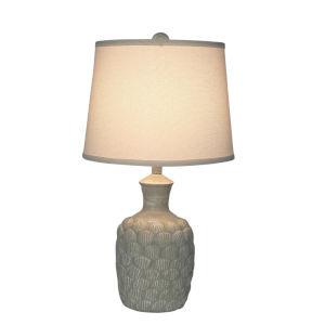 Coastal Lighting Weathered Sisal One-Light Sisal Shell Accent Lamp