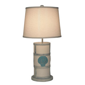 Coastal Lighting Cottage with Turquoise Sea Accent (102) One-Light Table Lamp