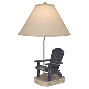 Coastal Living Aged Cottage One-Light Adirondak Chair Table Lamp
