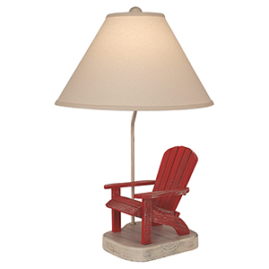 Coastal Living Classic Red One-Light Table Lamp