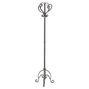 Coastal Living Weathered Dove Pedestal Coat Rack