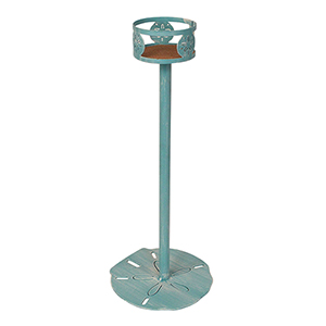 Coastal Living Weathered Turquoise Sea 10-Inch Drink Holder Stand